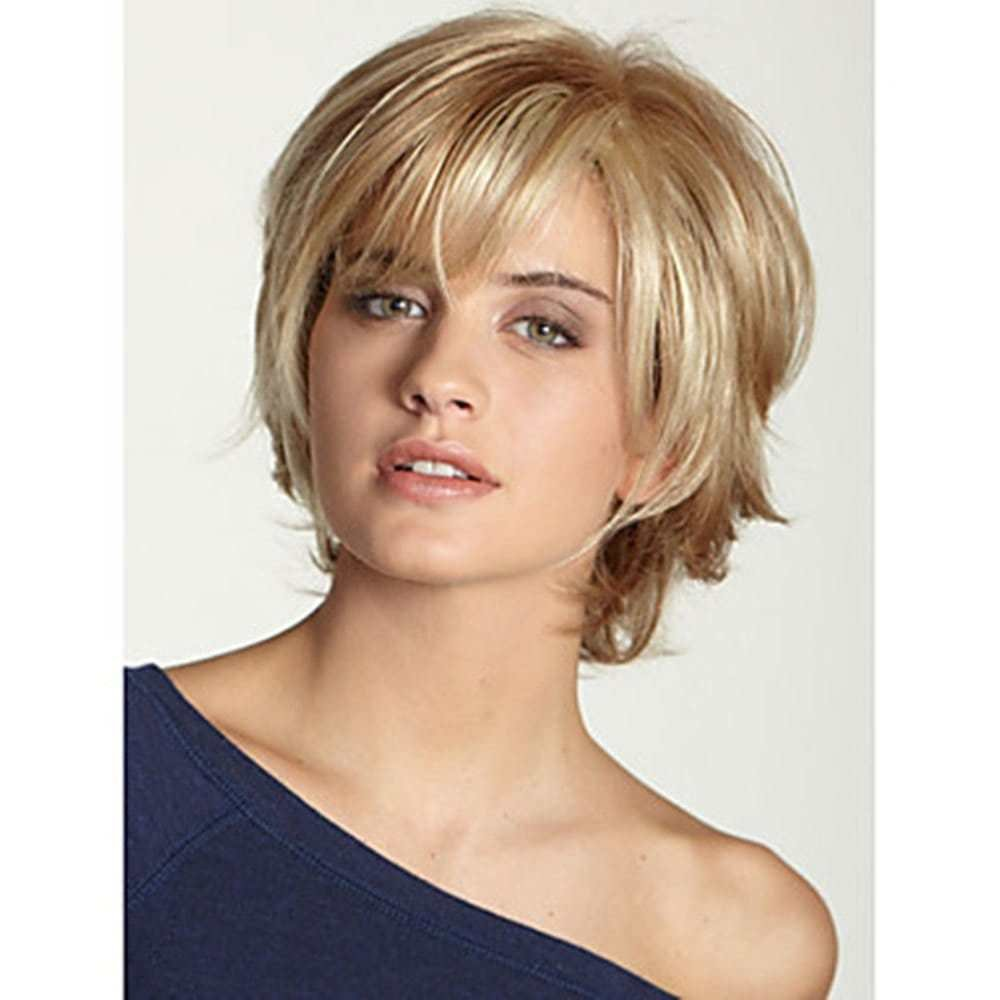 The Best 2019 Human Hair Capless Wigs Short Wavy Bob Haircut Blonde Pictures