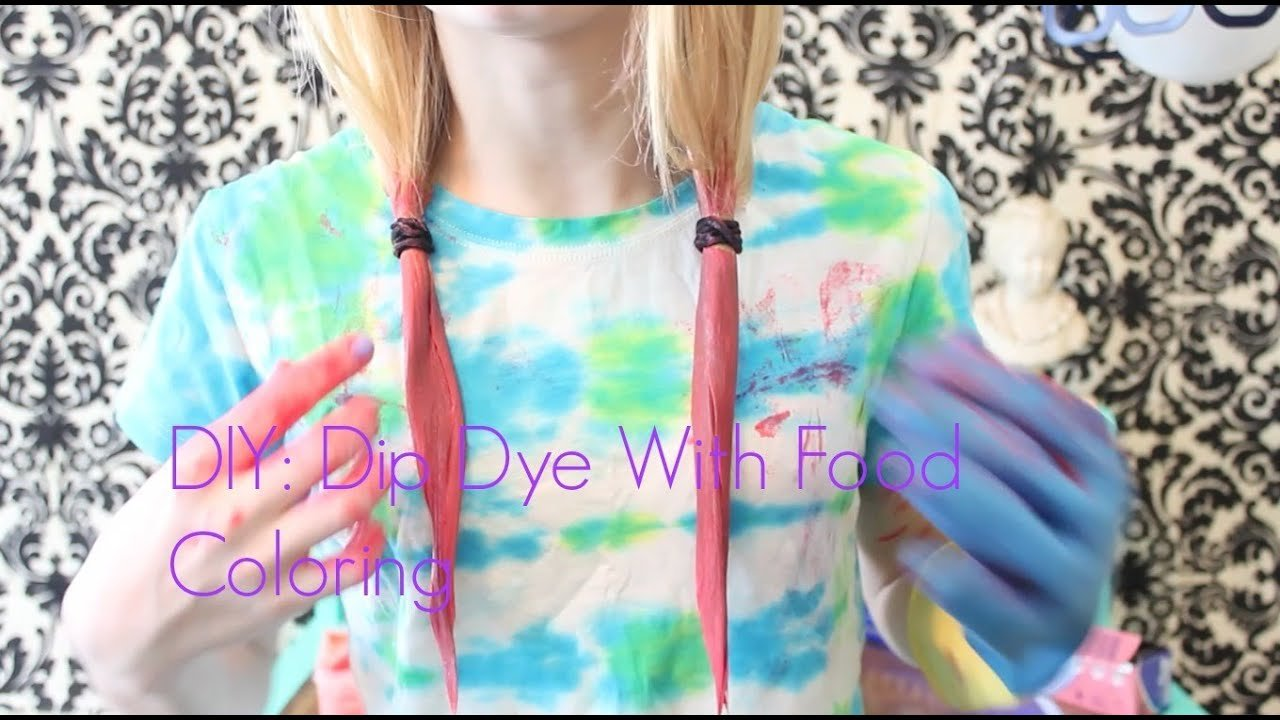 The Best Diy ⎜ Dip Dye With Food Coloring☀ Youtube Pictures