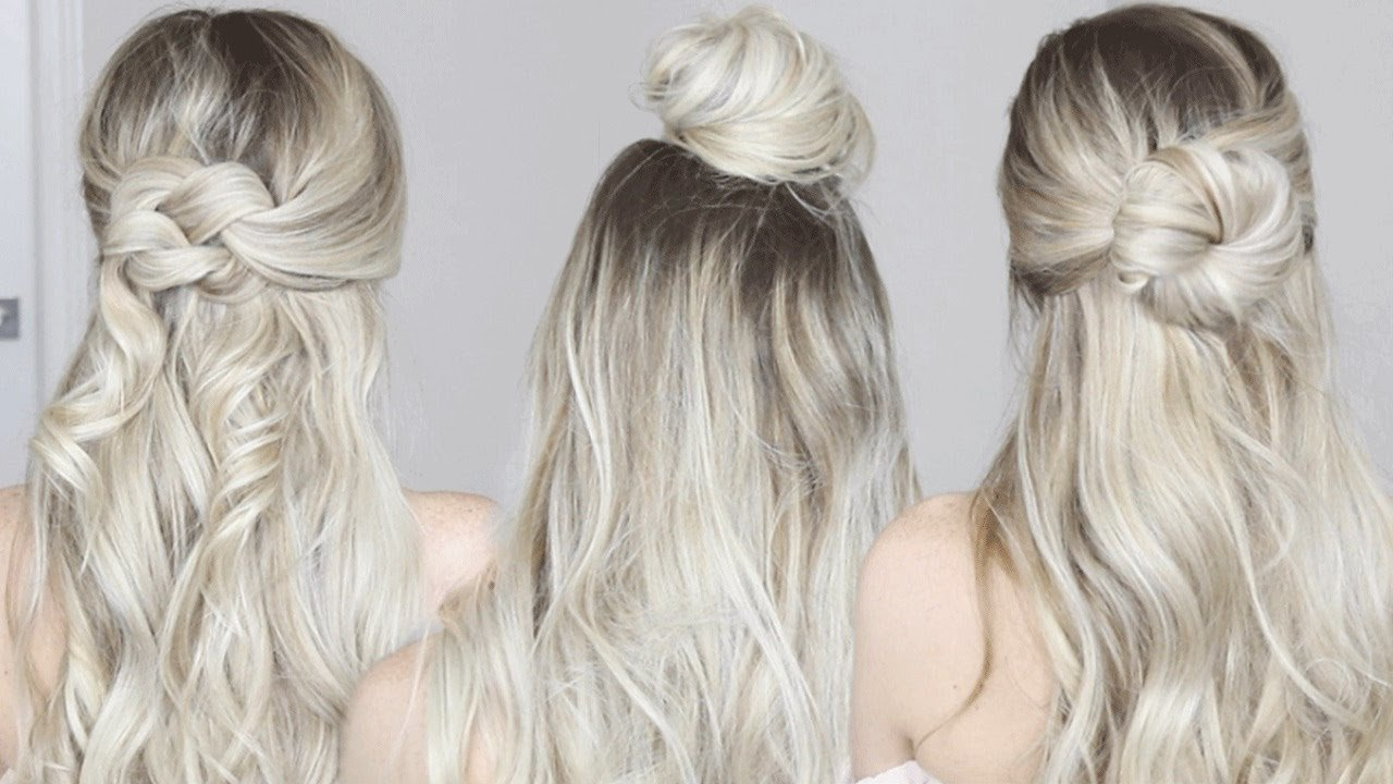 The Best 3 Easy Half Up Hairstyles Alex Gaboury Youtube Pictures