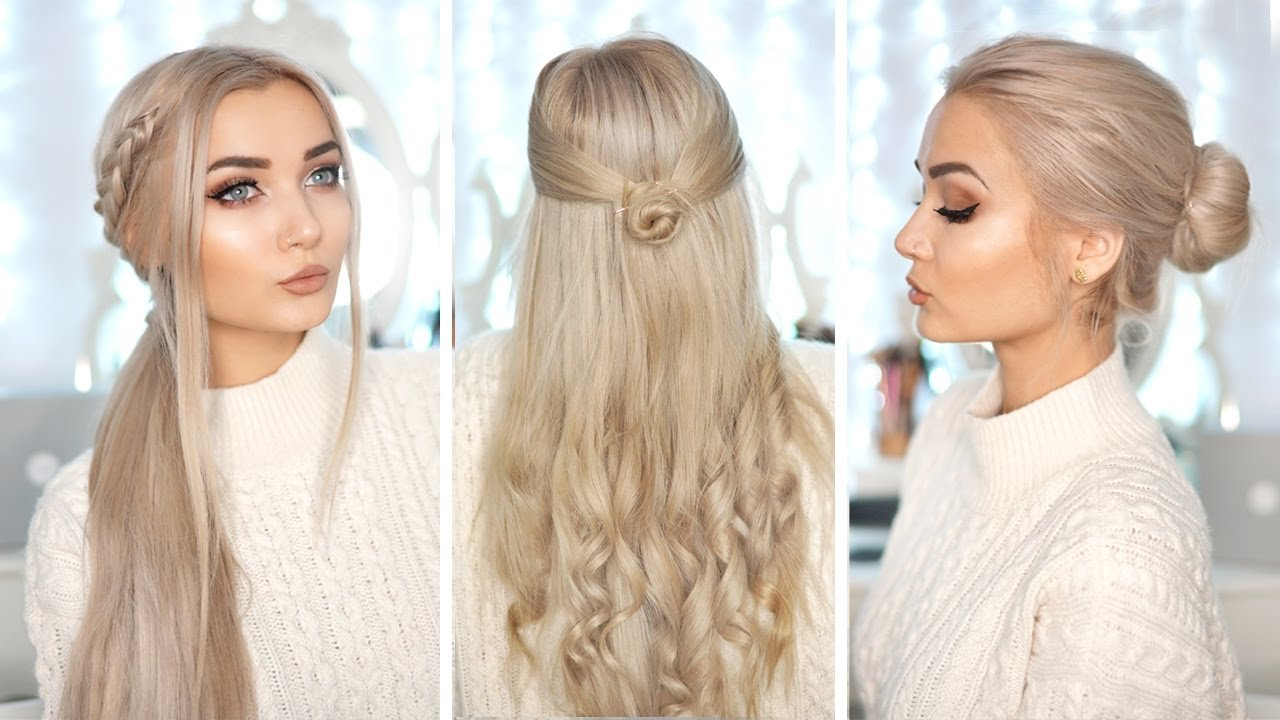 The Best 3 Cute Easy Hairstyles With Hair Extensions Youtube Pictures
