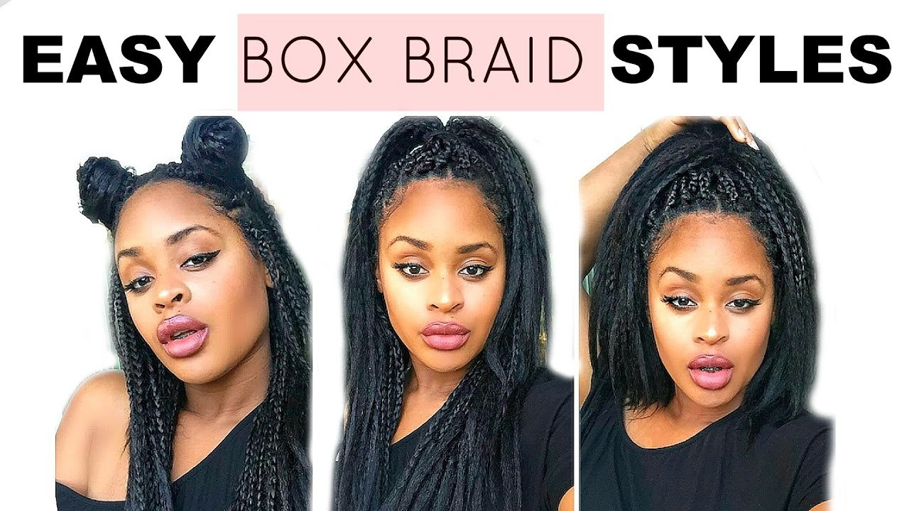 The Best Super Quick Easy Box Braid Hair Styles Natural Hair Pictures