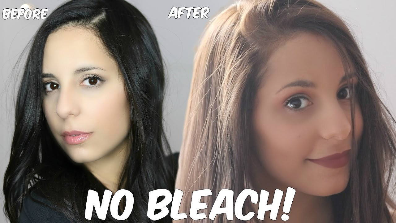 The Best Diy Lighten Dark Hair Without Added Bleach At Home Pictures