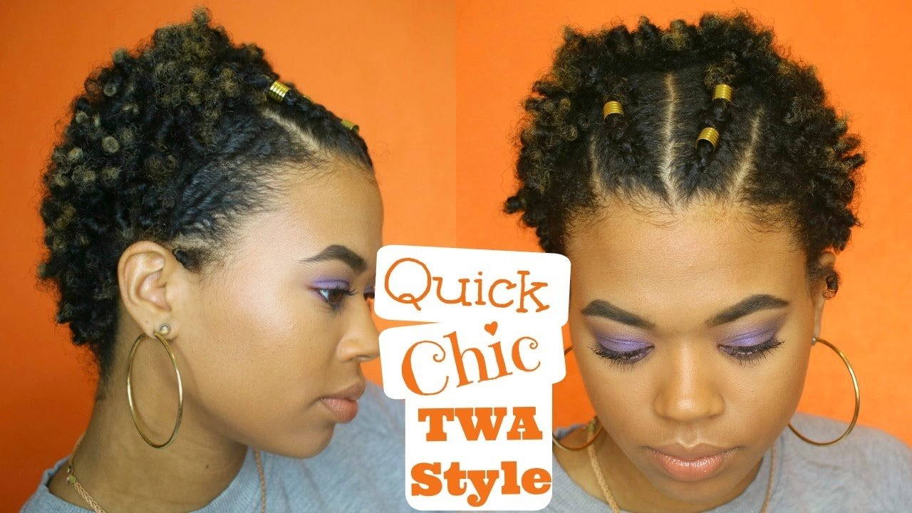 The Best Quick Chic Twa Style Easy Type 4 Natural Hair Youtube Pictures