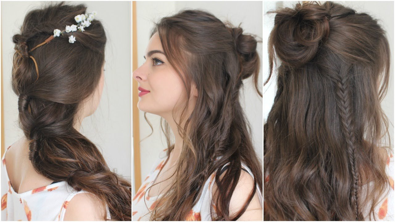 The Best 2 Boho Hairstyles Tutorial Youtube Pictures