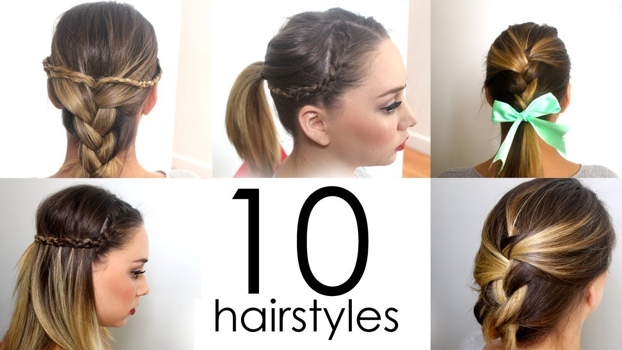 The Best 10 Quick Easy Everyday Hairstyles In 5 Minutes Youtube Pictures