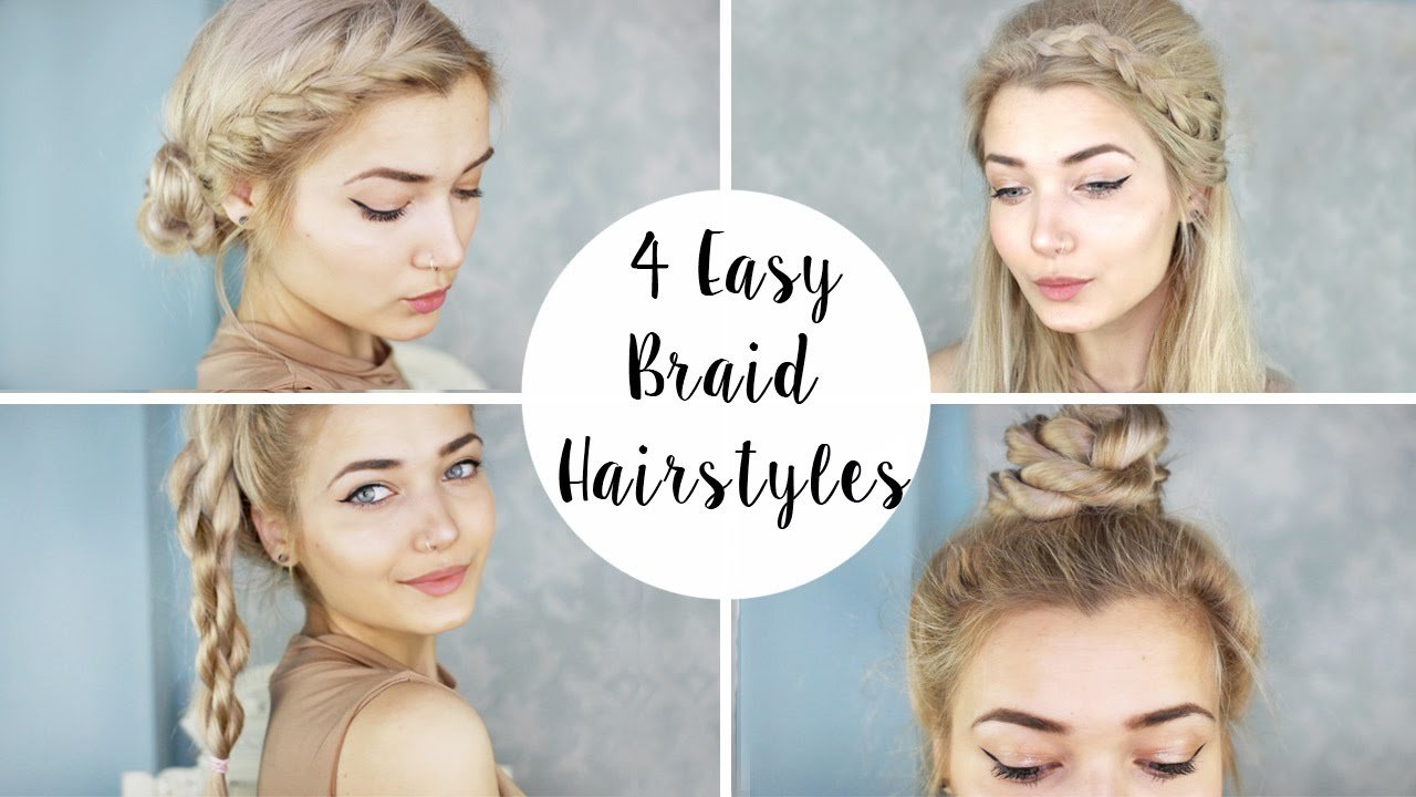 The Best 4 Cute Braid Hairstyles Quick Easy Youtube Pictures