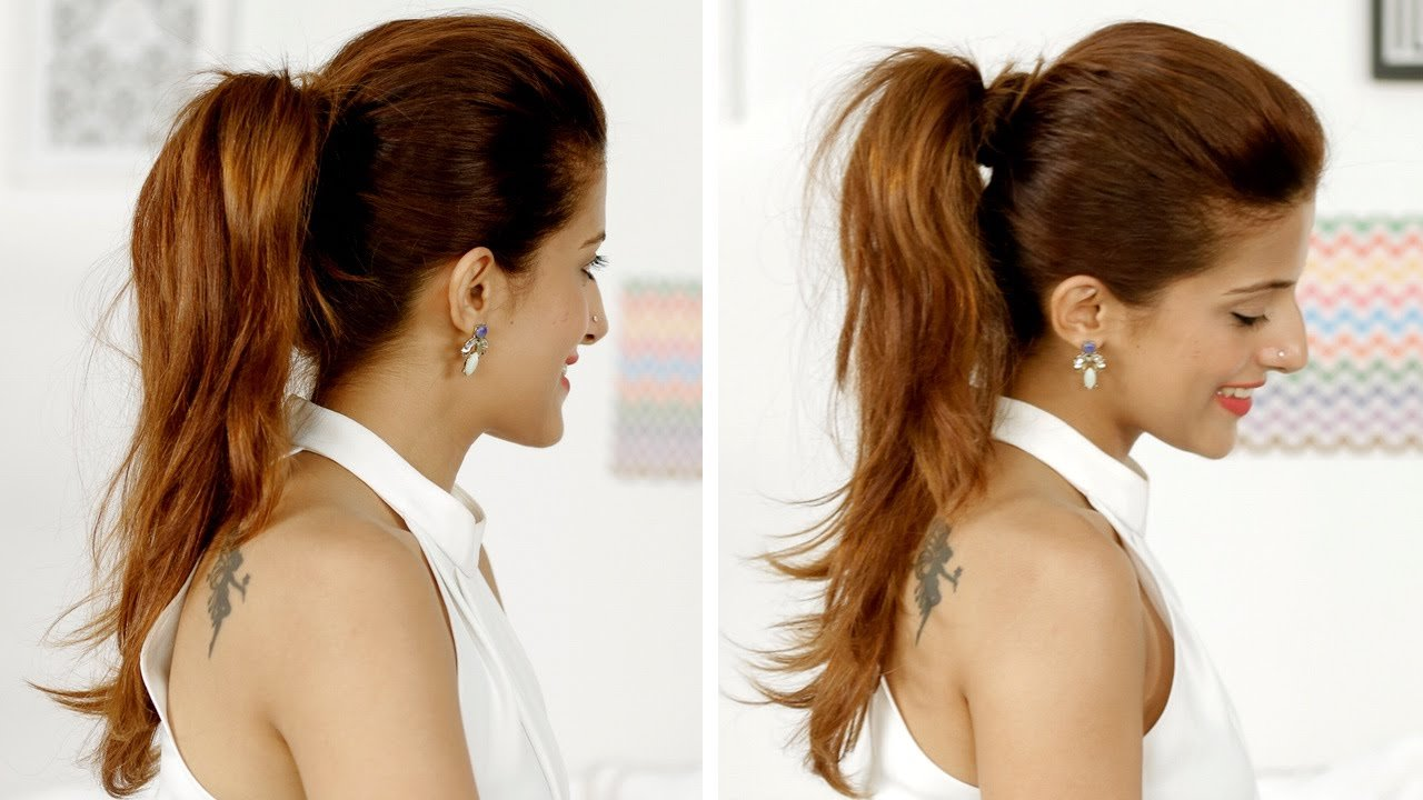 The Best Ponytail Trick How To Add Volume To Your Ponytail Quick Pictures