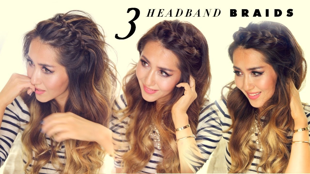 The Best 3 Easy Peasy Headband Braids Quick Hack Hairstyles For Pictures