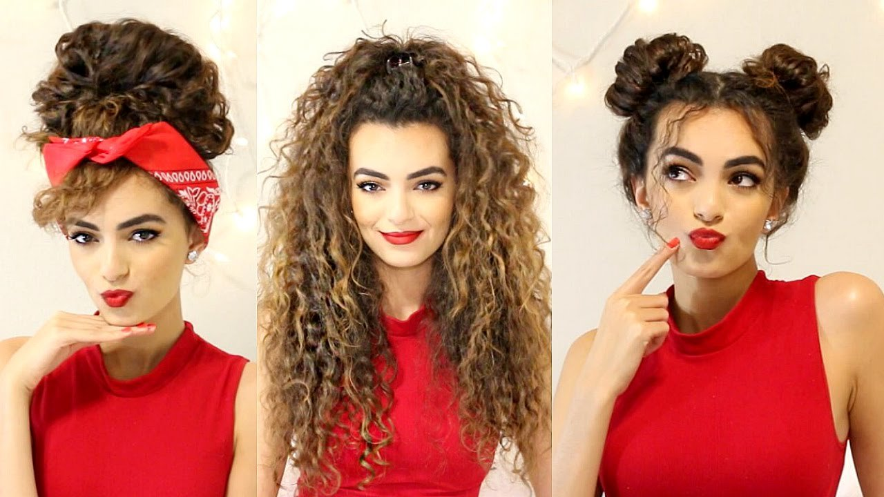 The Best Curly Hairstyles For A Semi Bad Hair Day Itsrimi Youtube Pictures