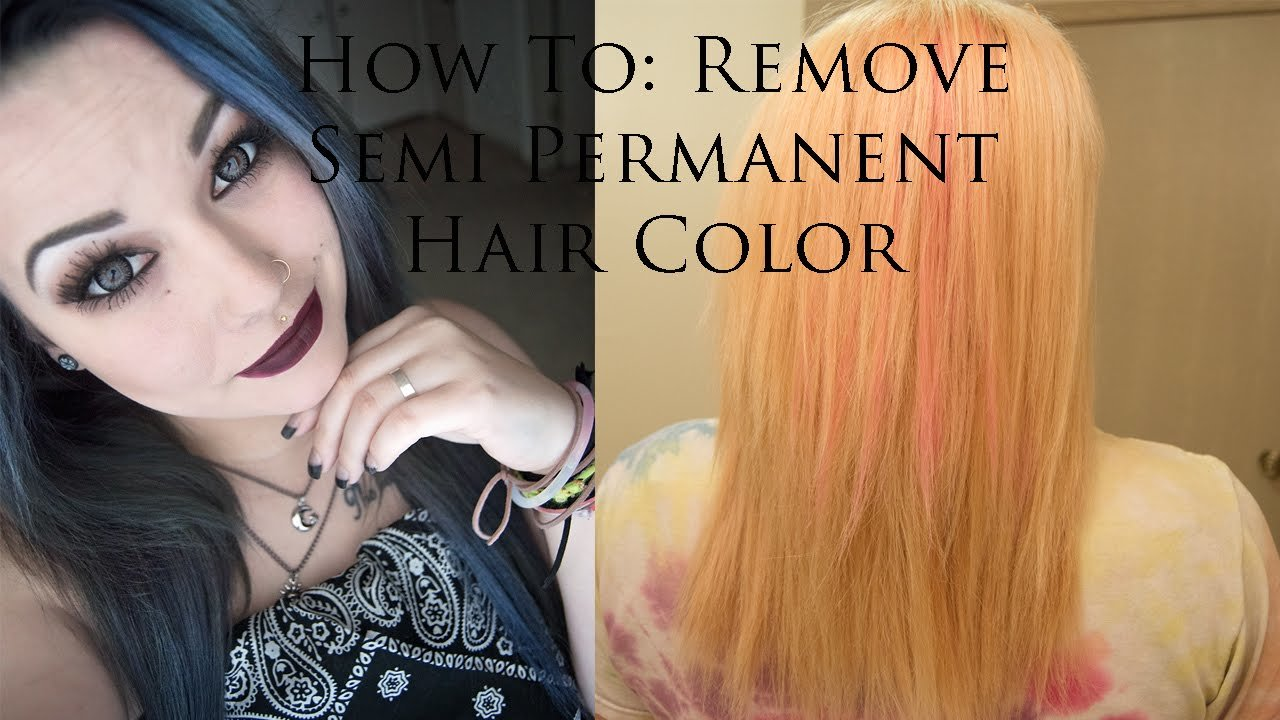 The Best How To Remove Semi Permanent Hair Color Bleach Hair Pictures