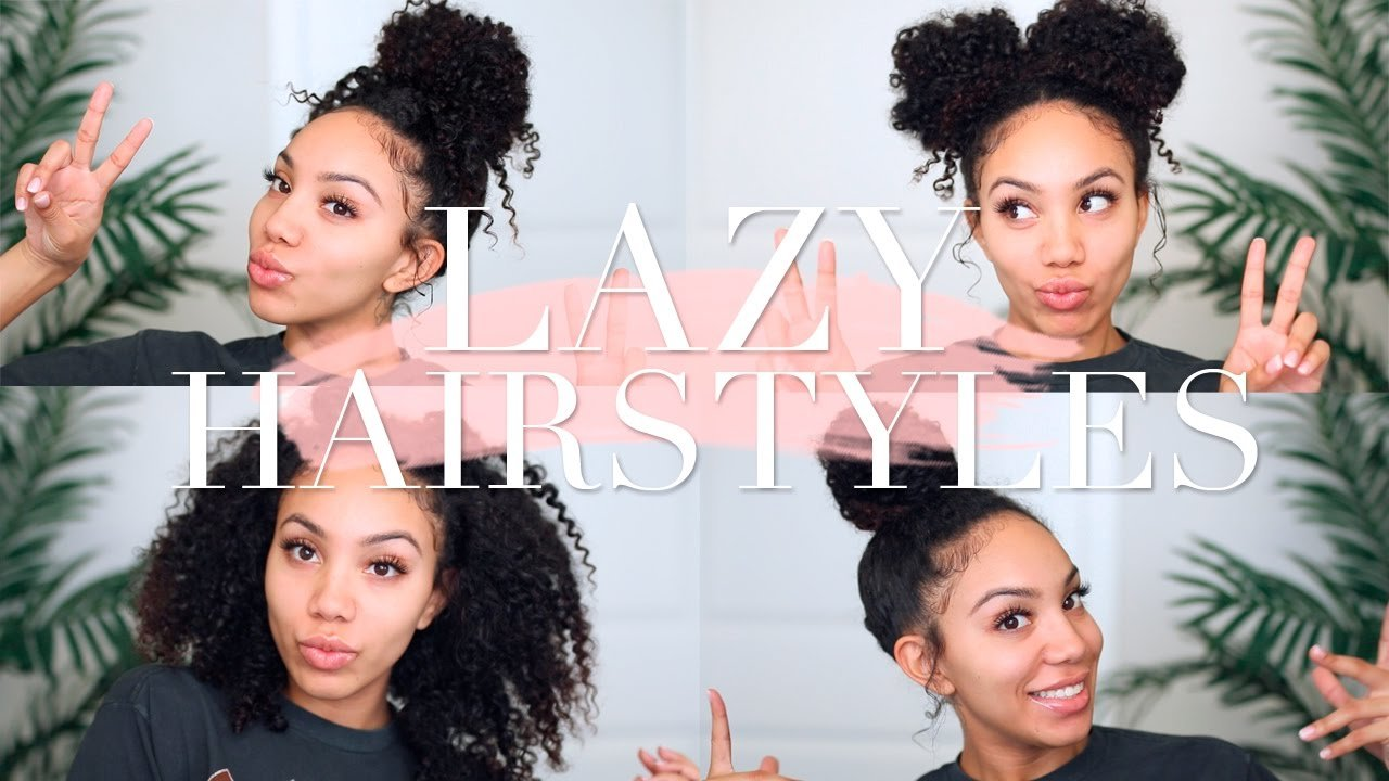 The Best Lazy Hairstyles For Curly Hair Quick Easy On The Go Pictures