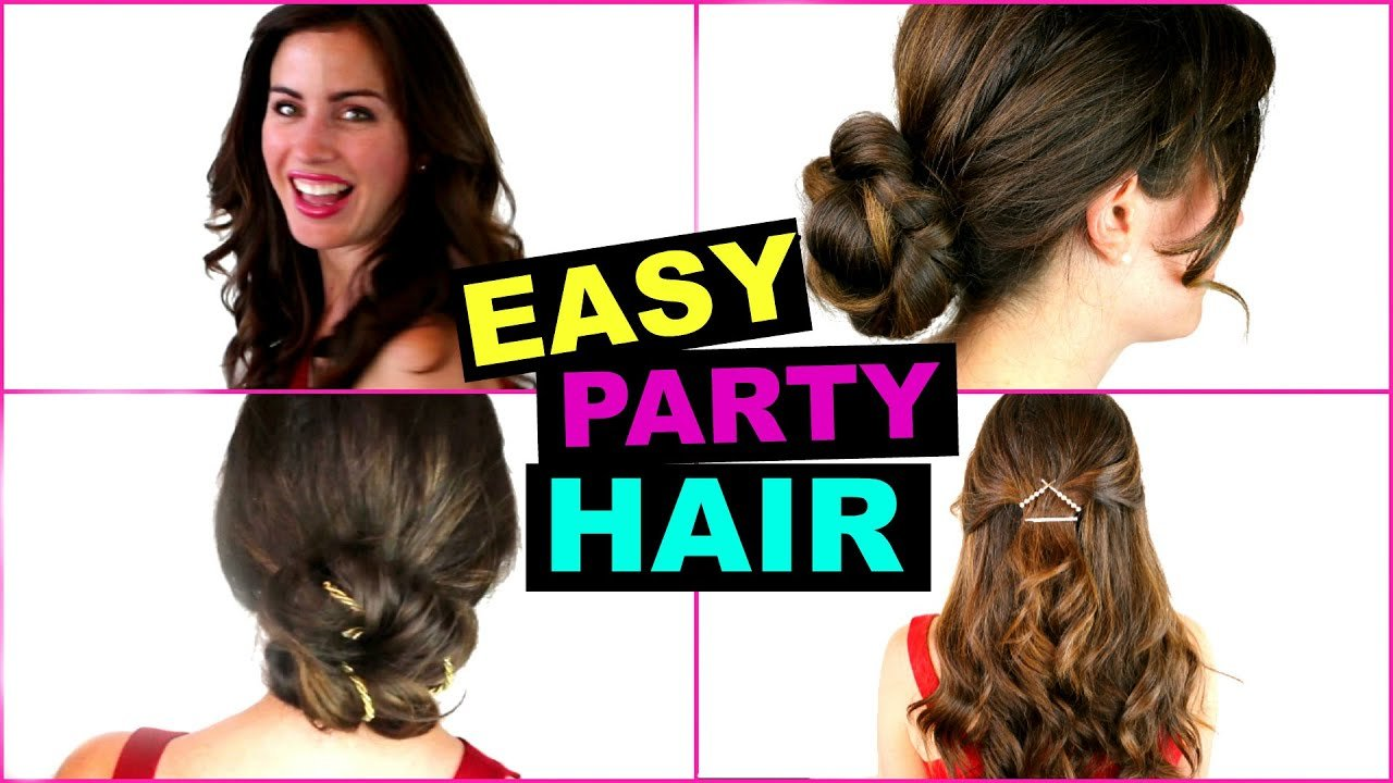 The Best Easy Quick Party Hairstyles Great For Going Out Youtube Pictures