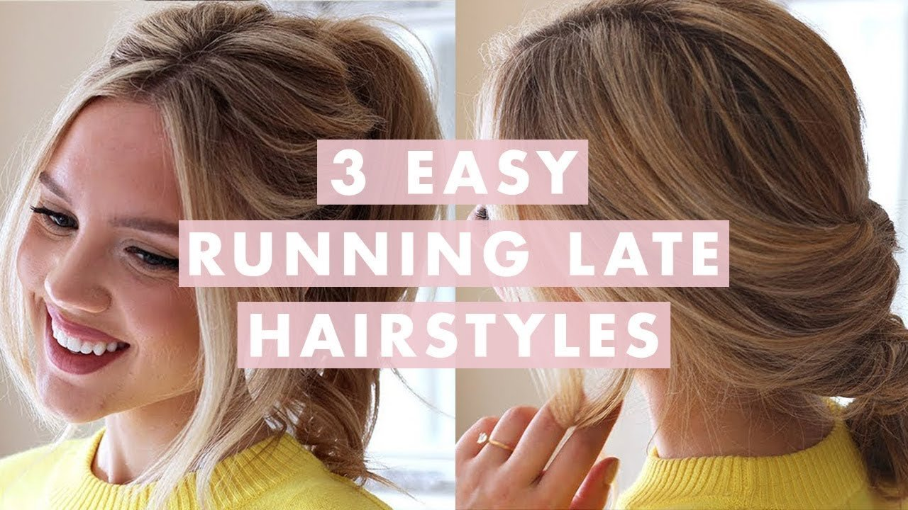 The Best 3 Easy Running Late Hairstyles Youtube Pictures
