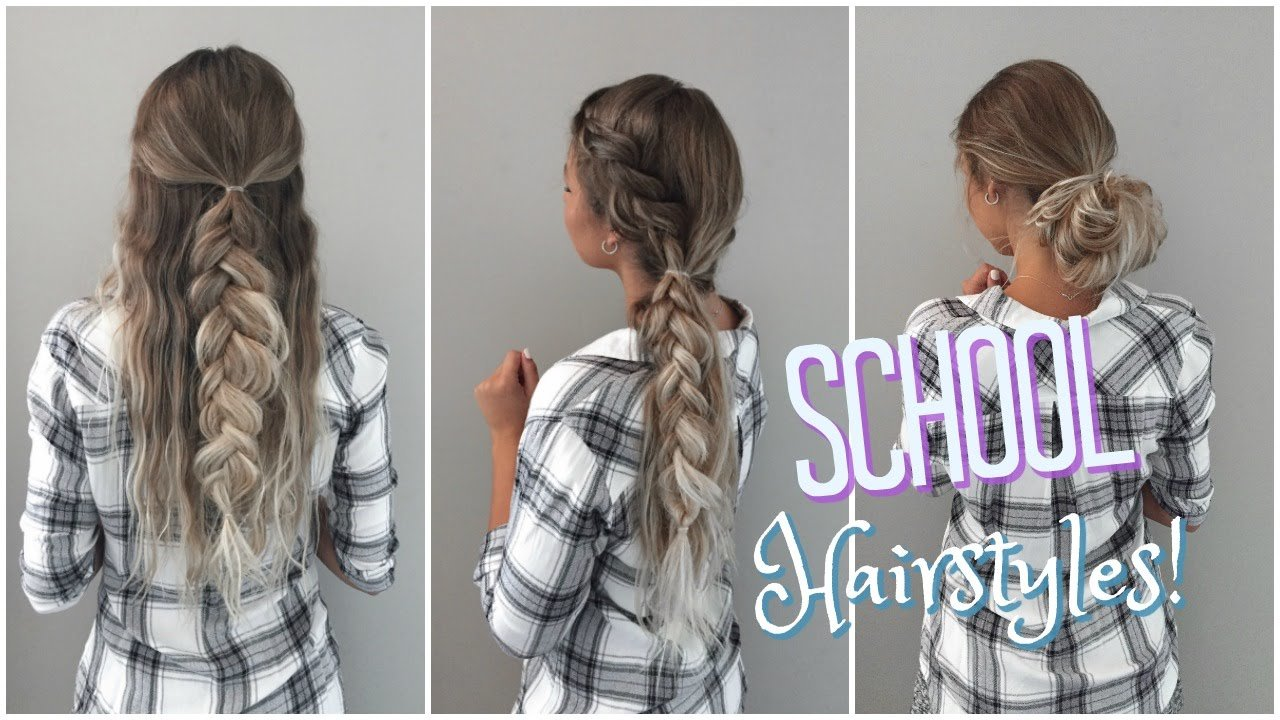 The Best Quick Easy No Heat Hairstyles Back To School Youtube Pictures