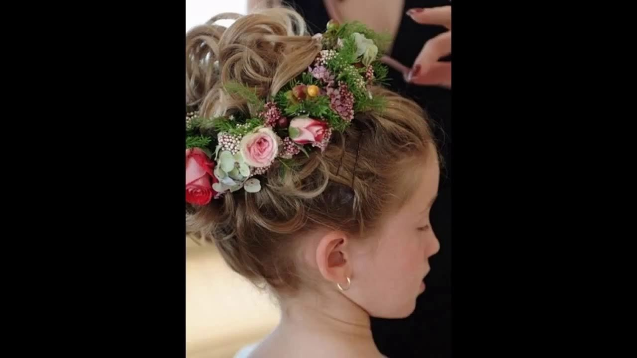 The Best Flower Girl Wedding Hairstyles Youtube Pictures