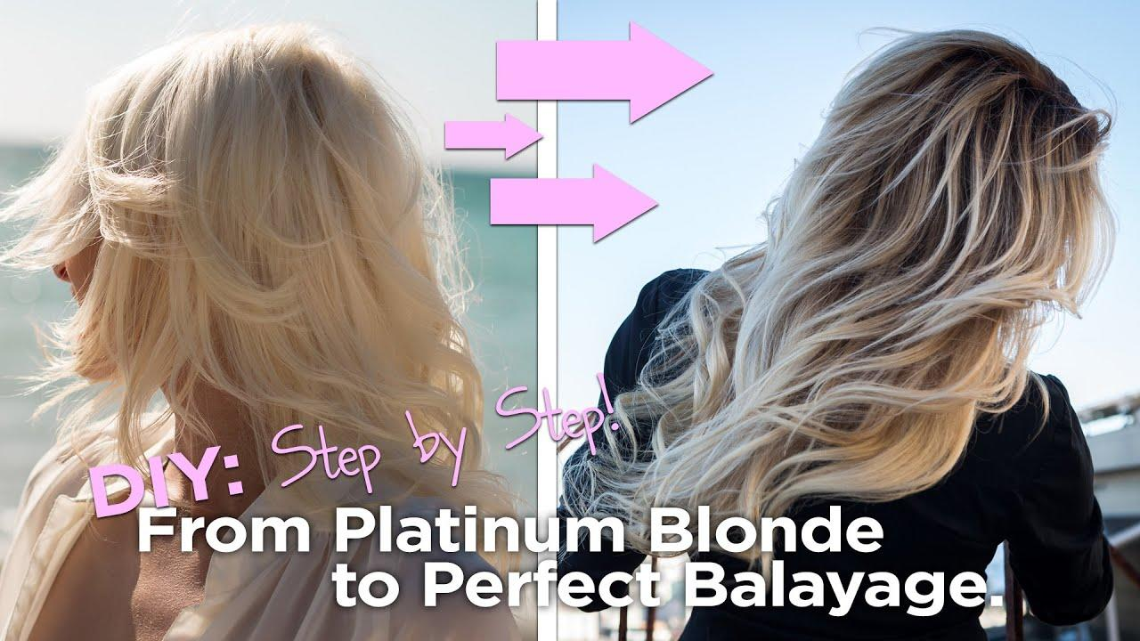 The Best Diy From Blonde To The Perfect Balayage Easy To Follow Pictures