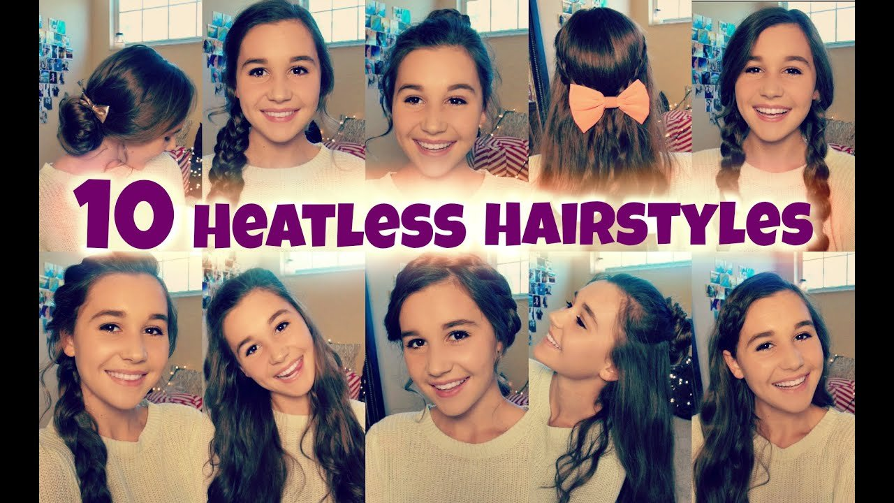 The Best 10 Back To School Heatless Hairstyles Youtube Pictures