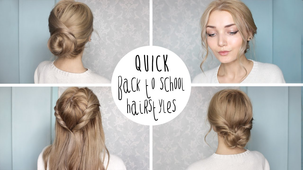The Best Easy Cute Back To School Hairstyles Youtube Pictures