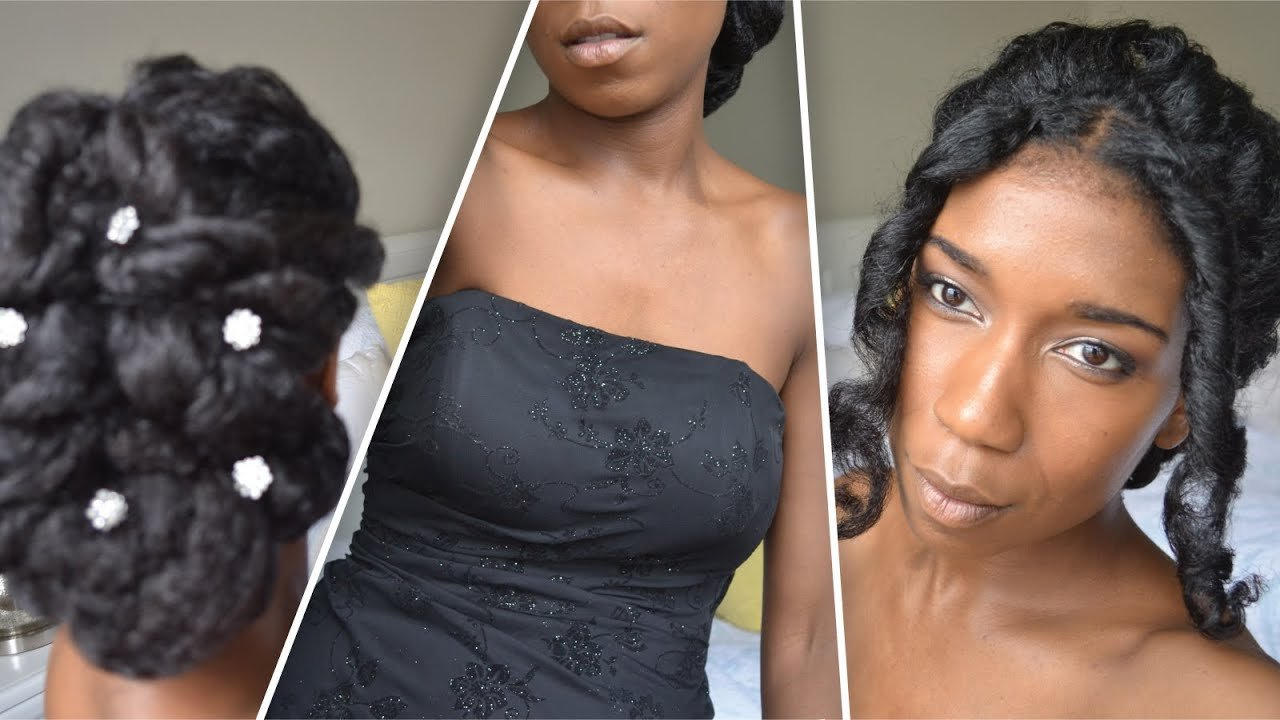 The Best Classic Prom And Wedding Updo Natural Hair Youtube Pictures