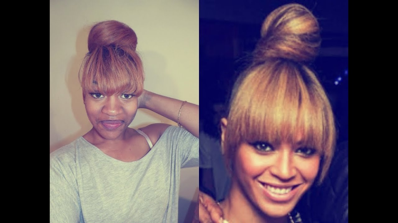 The Best Beyonce Evelyn Lozada Inspired Bun W Bangs Youtube Pictures
