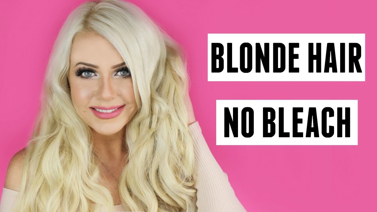 The Best Blonde Hair With No Bleach Tutorial Diy At Home No Pictures