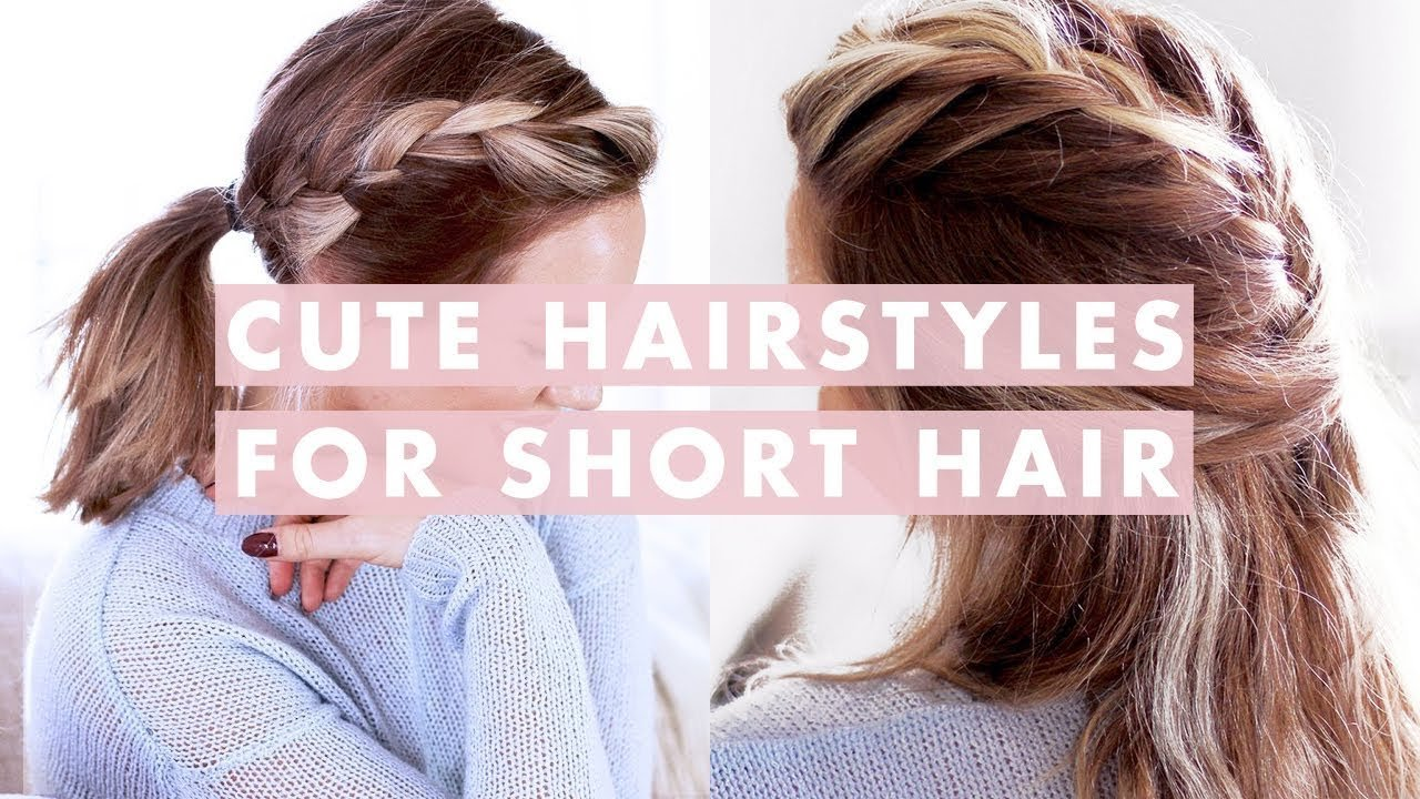 The Best 3 Easy Hairstyles For Short Medium Length Hair Youtube Pictures