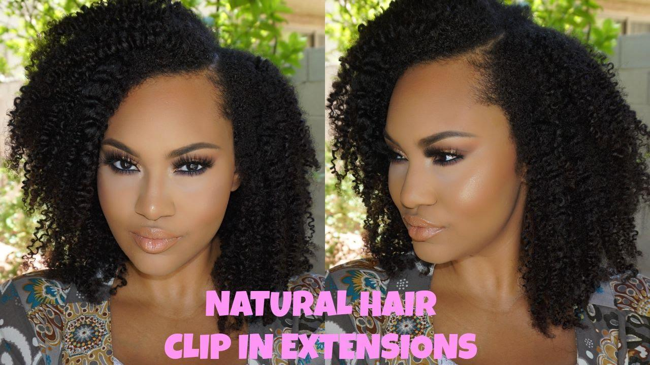 The Best Natural Hair Clip In Extensions How To Install Style Pictures