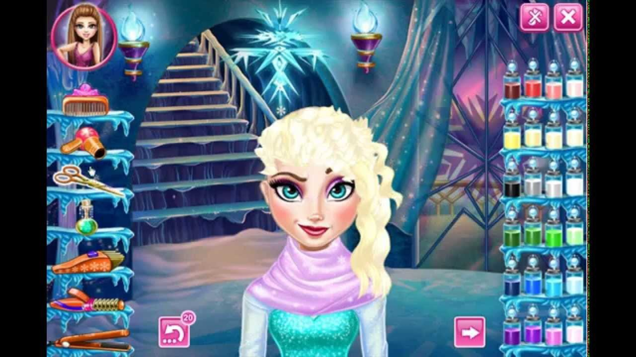 The Best Frozen Game Disney Elsa Real Haircut Dress Up Makeover Fun Pictures