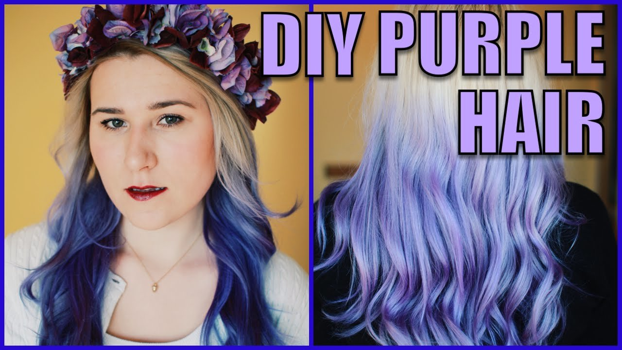The Best Diy Purple Ombre Hair Ft Manic Panic Ultra Violet Youtube Pictures