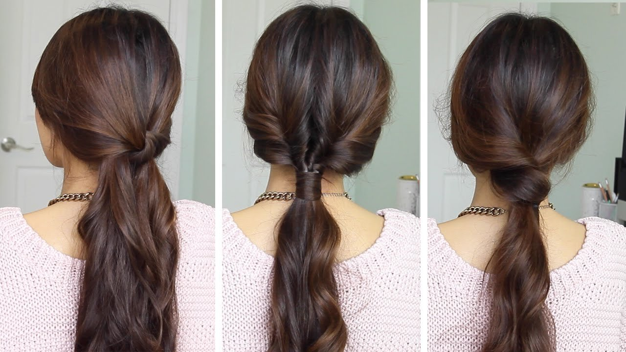 The Best Running Late Ponytail Hairstyles Hair Tutorial Youtube Pictures