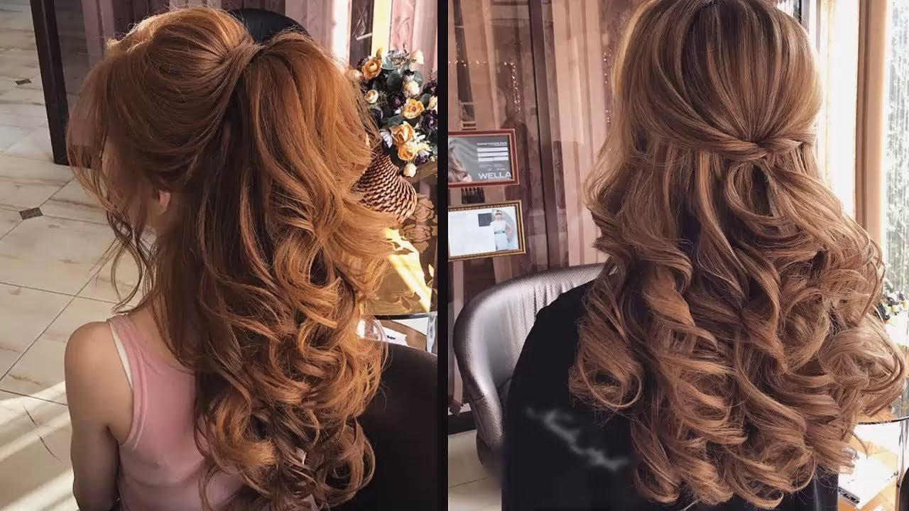 The Best Curly Bridal Hairstyles For Long Hair Tutorial 2018 Youtube Pictures