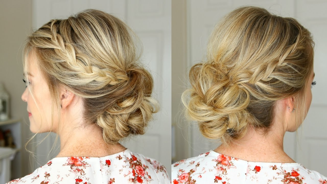 The Best Lace Braid Homecoming Updo Missy Sue Youtube Pictures