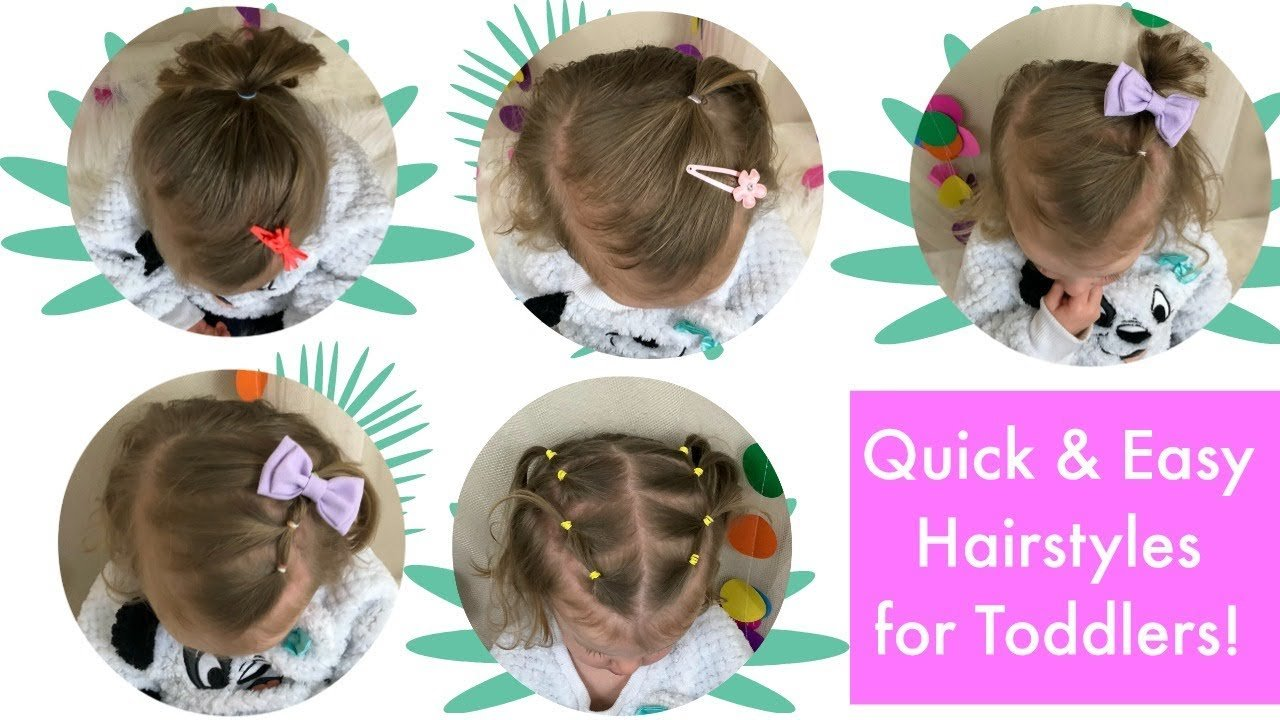 The Best 5 Quick And Easy Toddler Hairstyles Thin Hair Youtube Pictures