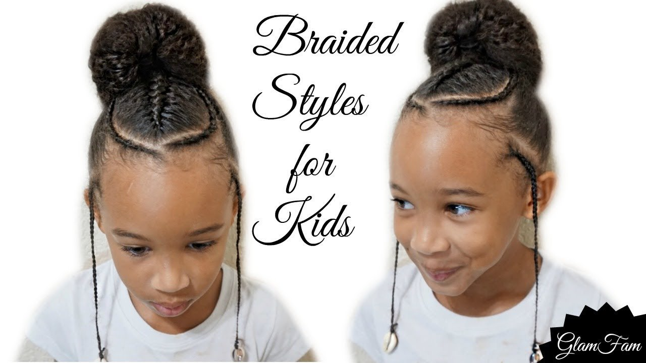 The Best Children S Braided Hairstyle With A Bun Back To School Pictures