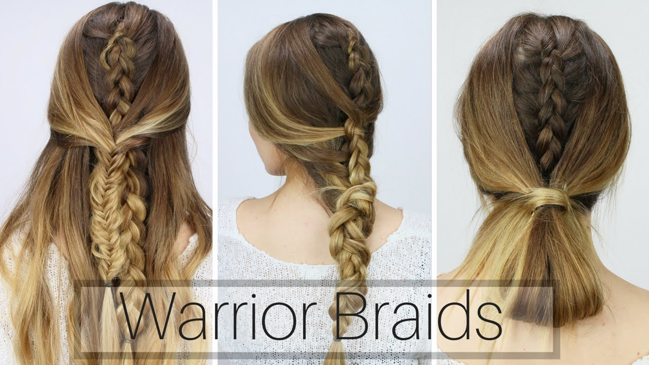 The Best 3 Easy Warrior Braids D*Rty Hair Styles Youtube Pictures