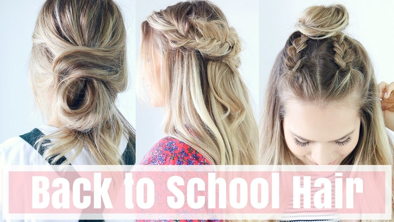 The Best 3 Easy Back To School Hairstyles Hair Tutorial Youtube Pictures