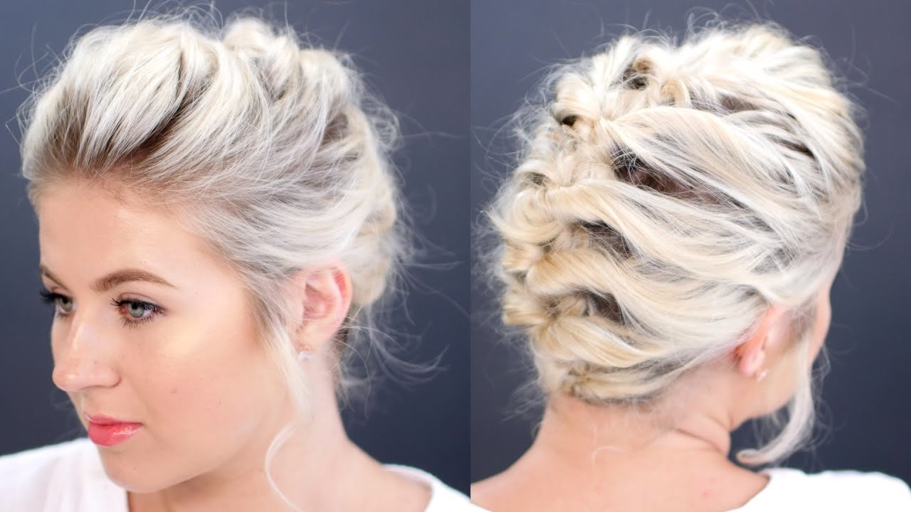 The Best Short Hair Tutorial Updo Less Than 5 Minutes Milabu Pictures