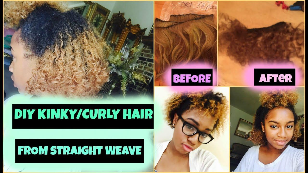 The Best Diy How To Get K*Nky Curly Hair From Straight Weave Youtube Pictures