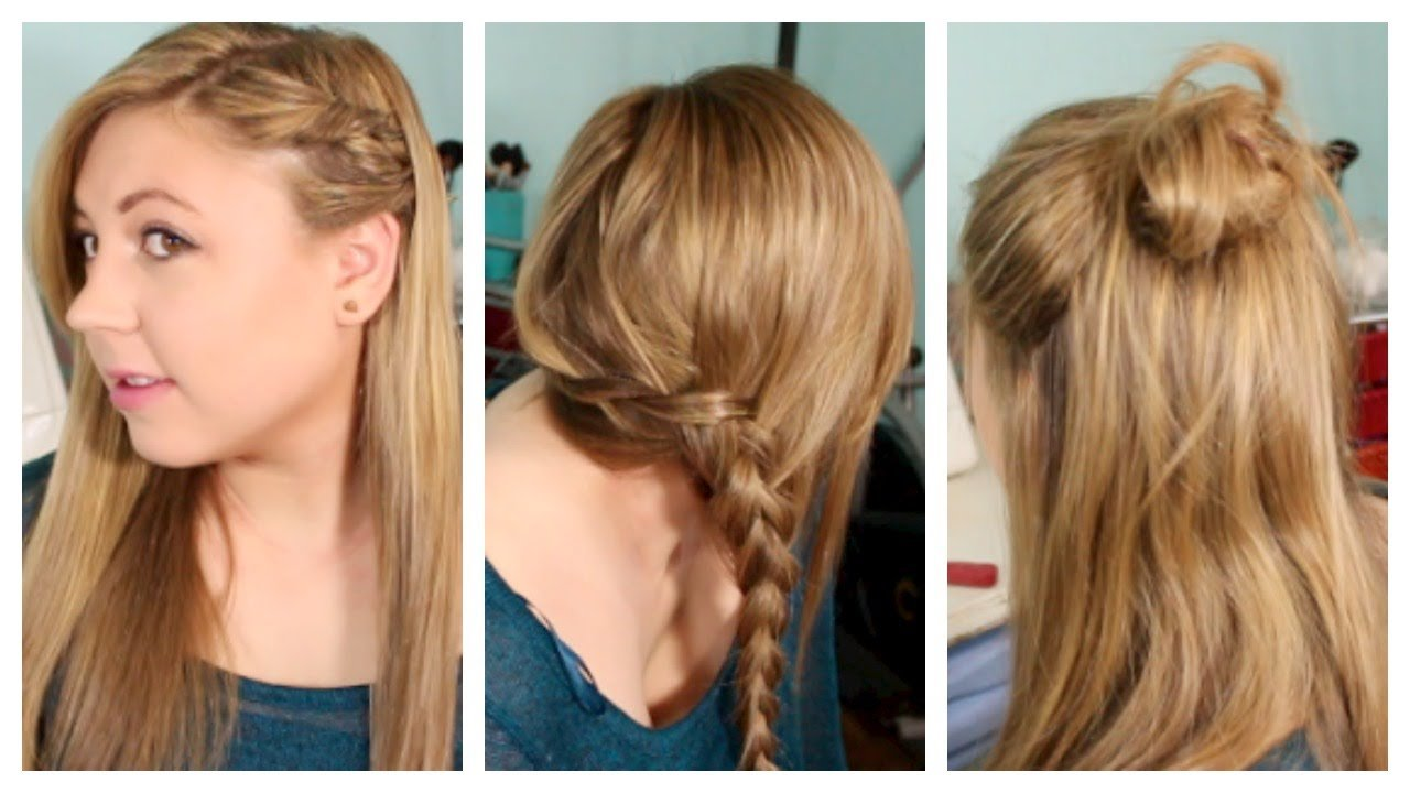 The Best Back To School Hairstyles Heatless Fun Simple Youtube Pictures