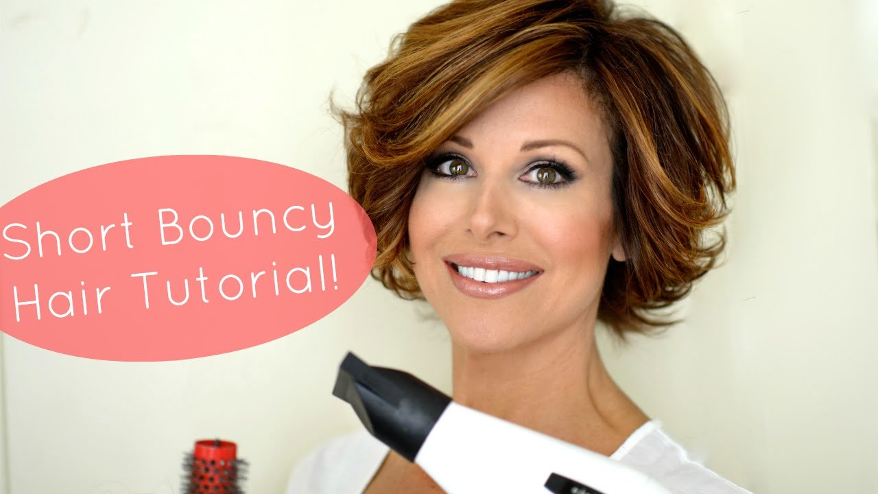 The Best Bouncy Short Hair Tutorial Youtube Pictures