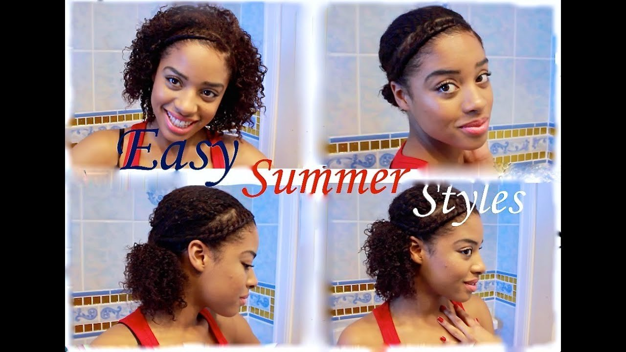 The Best Easy Quick Summer Natural Hairstyles Youtube Pictures