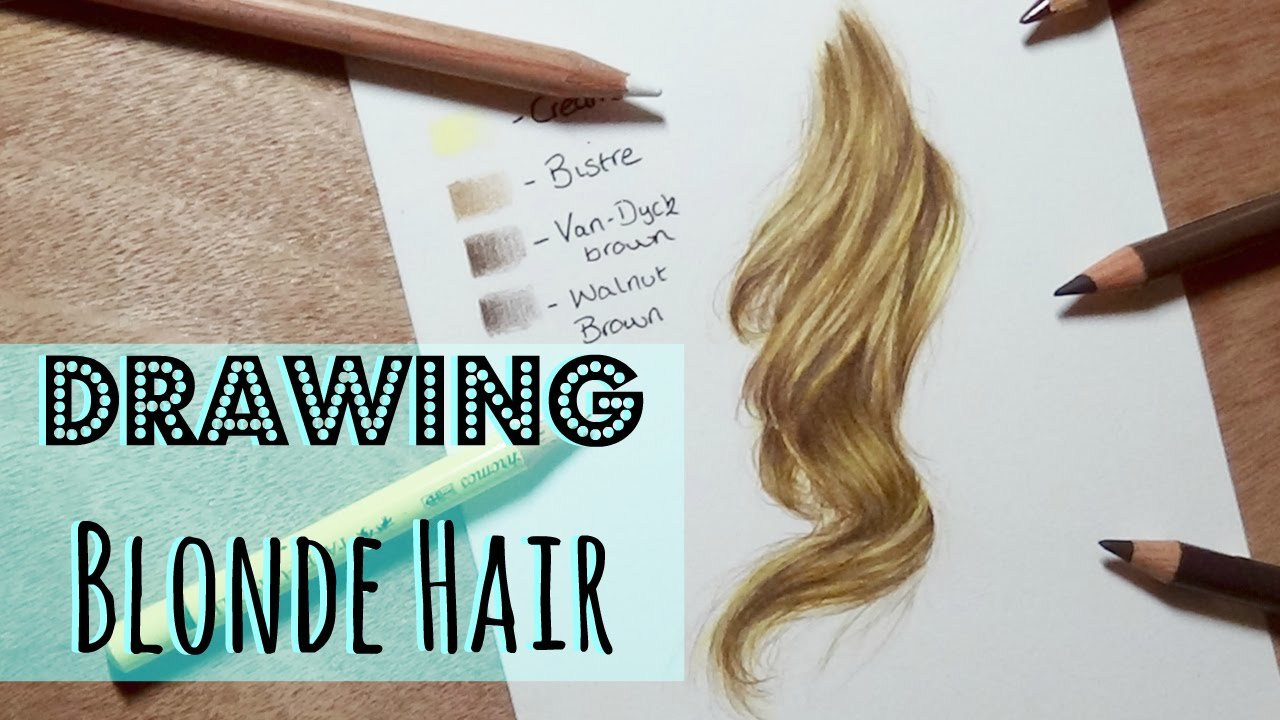 The Best Drawing Tutorial Realistic Blonde Hair In Coloured Pencil Pictures