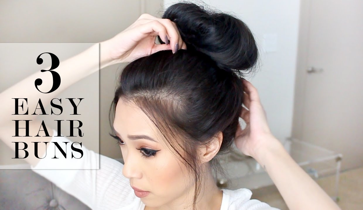 The Best 3 Easy Bun Hairstyles Lesassafras Youtube Pictures