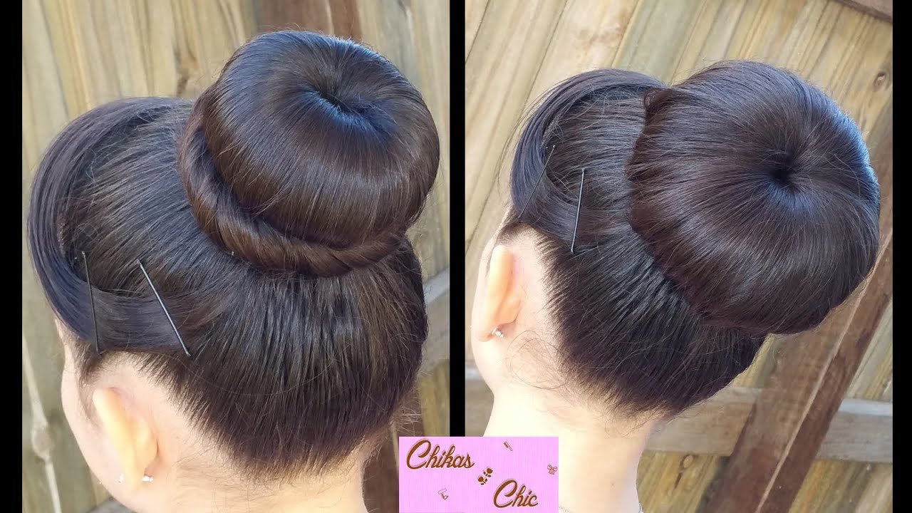 The Best Hair Style Classic Donut Bun 2 Options Quick And Easy Pictures