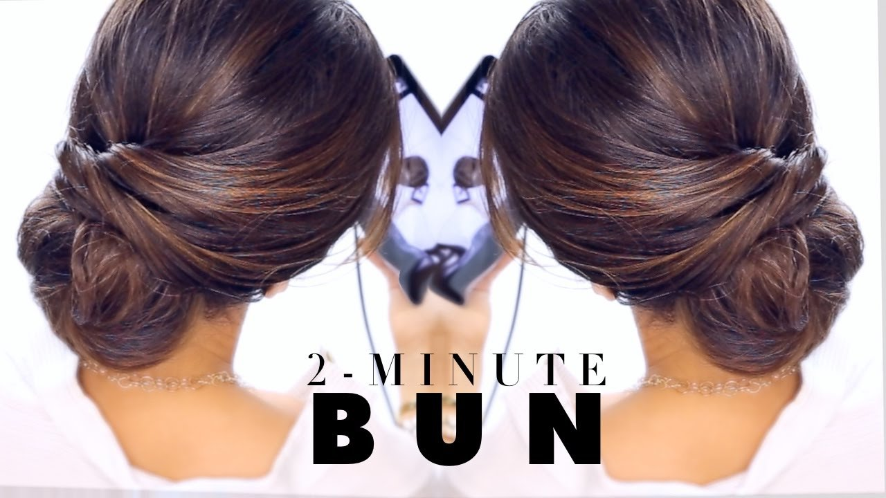 The Best 2 Minute Elegant Bun Hairstyle ★ Easy Updo Hairstyles Pictures