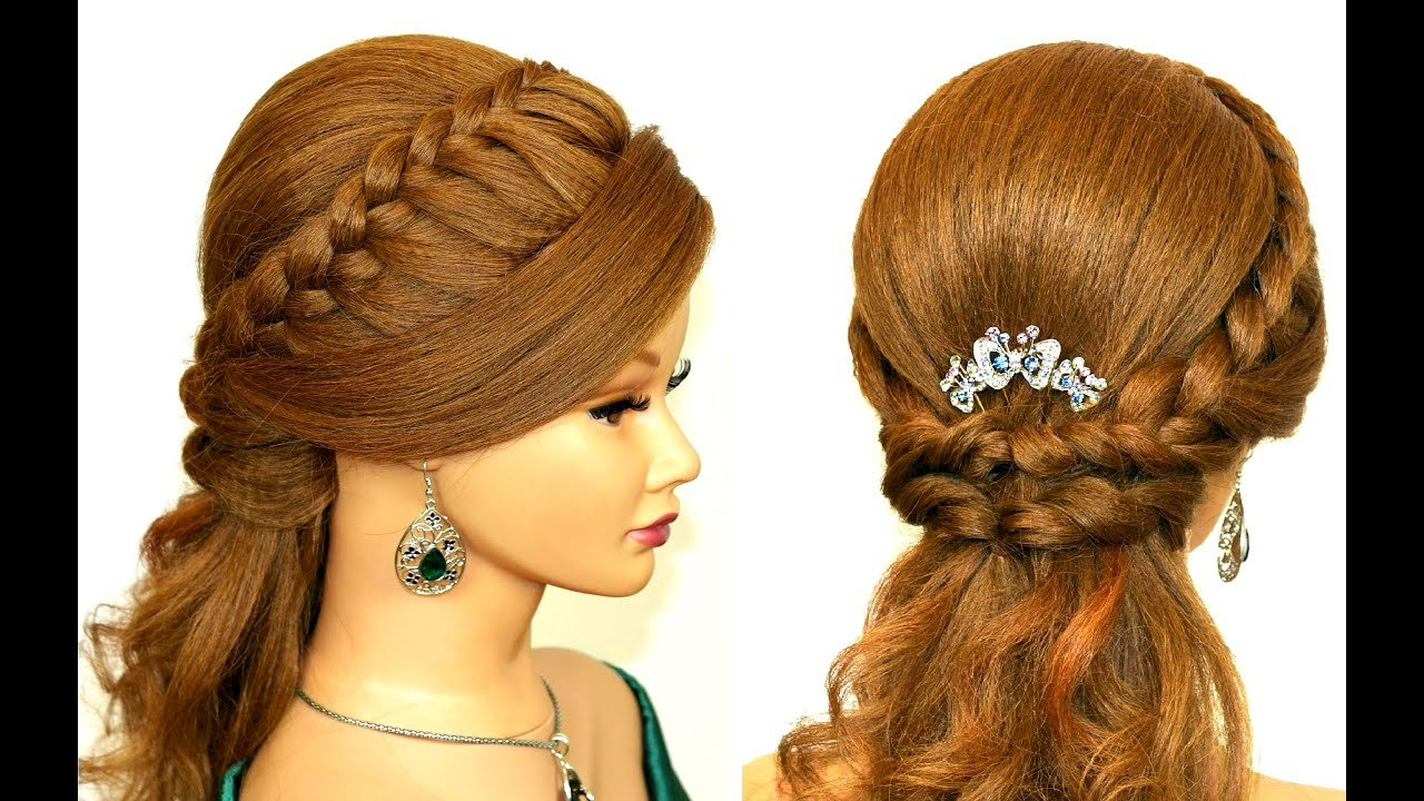 The Best Easy Prom Hairstyle For Medium Long Hair Youtube Pictures
