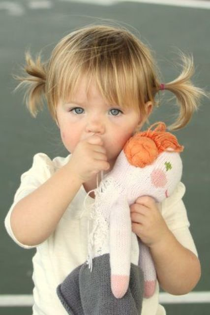 The Best 17 Cutest Piggy Tails Hair Ideas For Little Girls Pictures