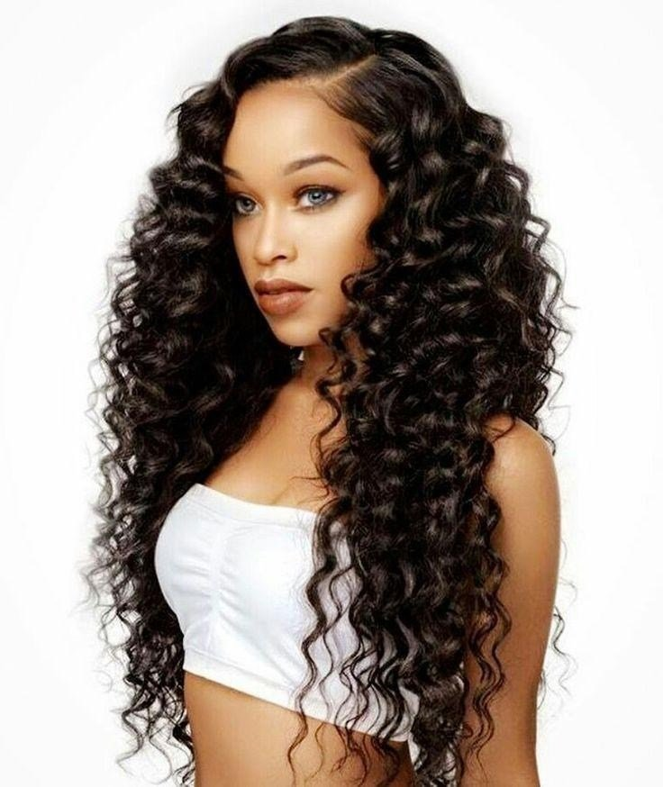 The Best 15 Collection Of Curly Long Hairstyles For Black Women Pictures