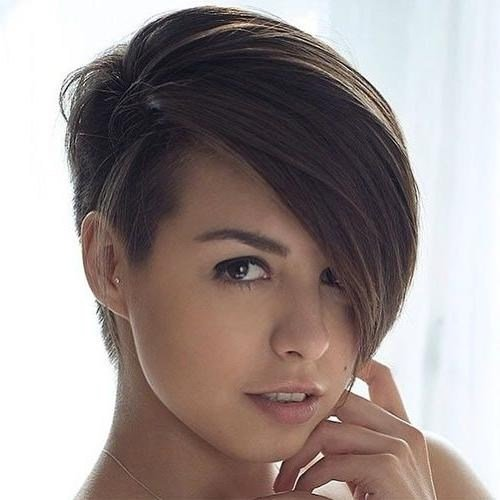 The Best 2019 Popular Short Haircuts With One Side Shaved Pictures