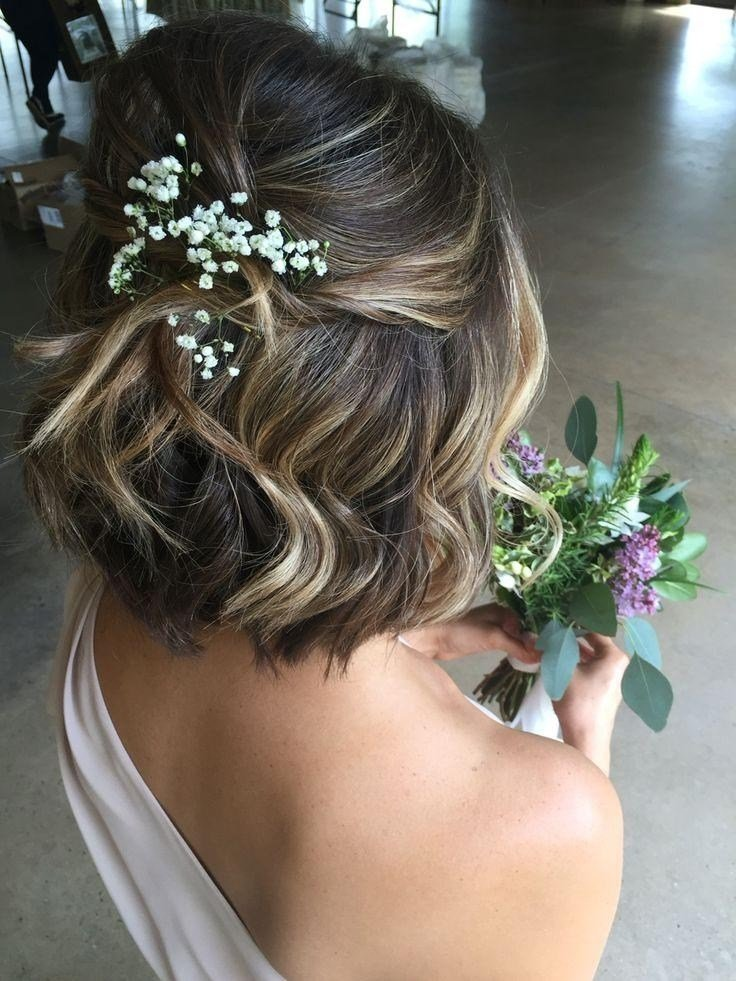 The Best 20 Photo Of Short Hairstyles For Weddings For Bridesmaids Pictures